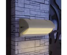 vidaXL Lámpara de pared para exteriores gris aluminio