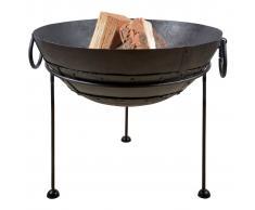 Esschert Design fuente de fuego de metal reciclado 61,2 cm FF246