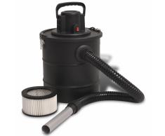 vidaXL Aspiradora de cenizas 1200 W 20 L negra