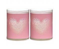 Bolsius Velas Sparkle 6 unidades corazón rosa 103622396740