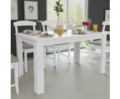 vidaXL Mesa de comedor blanca 140x80x75 cm