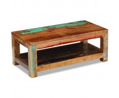 vidaXL Mesa de centro madera maciza reciclada 90x45x35 cm
