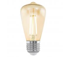 EGLO Bombilla LED de estilo vintage E27 ST48 11553, Color ámbar