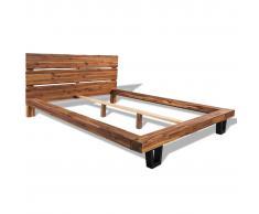 vidaXL Estructura de cama madera maciza acacia 140x200 cm
