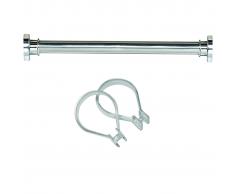 Sealskin set Seallux de barra ducha + 12 anillas 125-220 cm (Cromo)