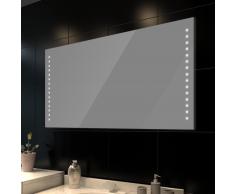 vidaXL Espejo de pared con luces LED 100x60 cm