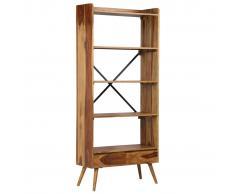 vidaXL Estantería de madera maciza de sheesham 75x30x170 cm