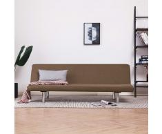 vidaXL Sofá cama de poliéster marrón