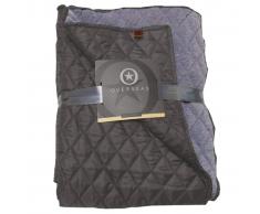 Overseas Colcha tafetán/jersey 130x150 cm gris antracita
