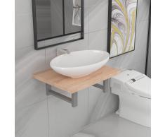 vidaXL Conjunto de muebles de baño 2 piezas