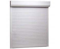 vidaXL Persiana enrollable aluminio blanca 100x120 cm