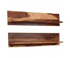 vidaXL Estantes de pared 2 uds. 118x26x20 cm madera maciza de sheesham