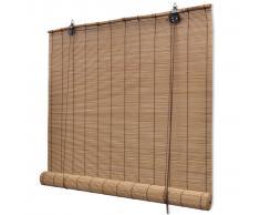 vidaXL Persiana enrollable de bambú marrón 150x160 cm