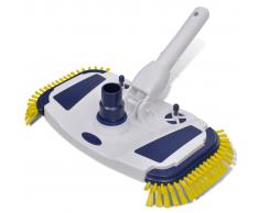 vidaXL Cepillo De Cabeza Aspiradora Para Limpieza Piscina