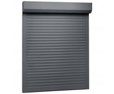 vidaXL Persiana enrollable aluminio gris antracita 100x130 cm
