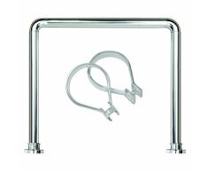 Sealskin set Seallux de barra cuadrada ducha + 12 anillas (Cromo)