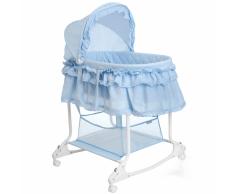 Little World Cuna mecedora 2 en 1 85x70x110 cm azul LWFU002-LBL