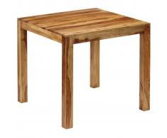 vidaXL Mesa de comedor de madera de sheesham maciza 82x80x76 cm