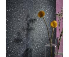 vidaXL Rollos de papel pintado no tejido 4 uds negro brillante liso