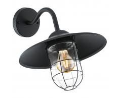 EGLO Lámpara de pared LED exterior Melgoa negra 60 W 94792
