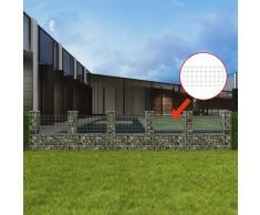 vidaXL Cesta en forma de U muro de gaviones galvanizado 570x20x100 cm