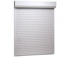 vidaXL Persiana enrollable aluminio blanca 130x140 cm