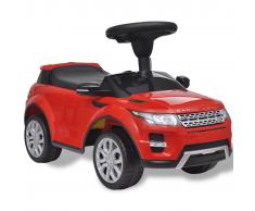 vidaXL Coche de juguete rojo con música, modelo Land Rover 348