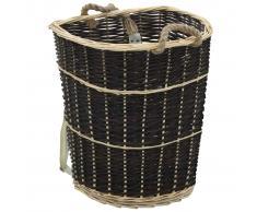 vidaXL Cesto para leña con correas transporte sauce natural 57x51x69cm