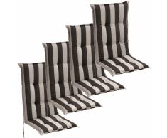 vidaXL Cojín para sillas de jardín 4 unidades 120x52 cm rayas oscuras