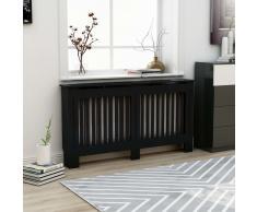 vidaXL Cubierta para radiador MDF negro 152x19x81 cm