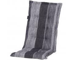 Madison Cojín para silla de espaldar alto Denim Stripe 123x50cm gris PHOSF364