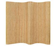vidaXL Biombo divisor de bambú natural 250x195 cm