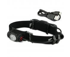 FAVOUR Linterna de cabeza PROTECH negra H0917