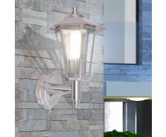 vidaXL Lámpara de pared vertical para exterior acero inoxidable
