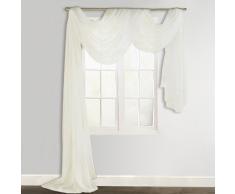 vidaXL Cortina de gasa transparente, 140 x 600 cm, Crema
