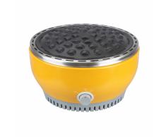 Qlima Mesa parrilla para barbacoa 29 cm amarilla NJOY 1007