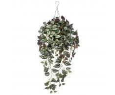 Emerald Planta artificial colgante tradescantia de dos tonos púrpura 420847