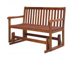 vidaXL Banco columpio de jardín madera maciza de acacia 125x62x93 cm