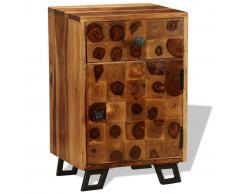 vidaXL Mesita de noche de madera maciza sheesham 37x30x54 cm