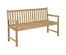 vidaXL Banco de jardín 150 cm madera teca