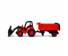 Polesie Polisie Tractor con pala frontal y remolque 87x23x26 cm rojo 1450662