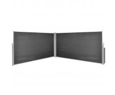 vidaXL Toldo Lateral Retráctil 160x600 cm Negro