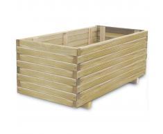 vidaXL Macetero de madera rectangular, 100 x 50 x 40 cm