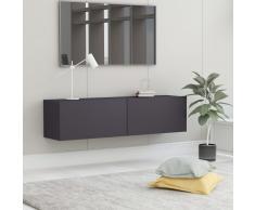 vidaXL Mueble para TV de aglomerado gris 120x30x30 cm