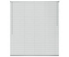 vidaXL Persiana aluminio 60x130 cm plateada