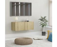 vidaXL Mueble para TV aglomerado color roble Sonoma 80x30x30 cm