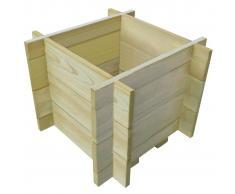 vidaXL Jardinera macetero de madera de pino impregnada 40 cm