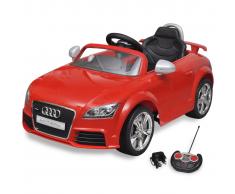 vidaXL Coche de juguete rojo con mando, modelo Audi TT RS