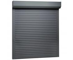 vidaXL Persiana enrollable aluminio blanca 80x100 cm