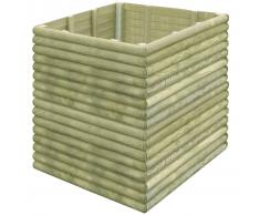 vidaXL Jardinera de madera de pino impregnada 106x106x96 cm